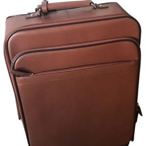 ✈️🌎Coach ROLL-A-BOARD Brown Leather Suitcase!🌏✈️